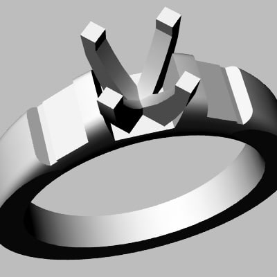 3d 3dm wedding band jewel