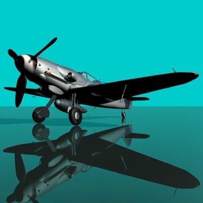 messerschmitt bf109-g10 fighter bf 109 3ds