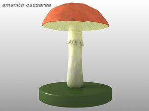 3d model of poisonous mushroom