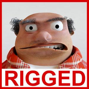 3d model rigged animation modelled