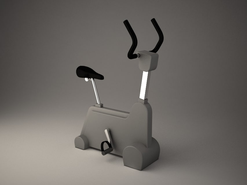 gym bicycle 3d model