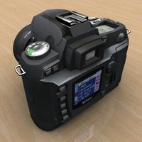 3d model of professional digital photo camera
