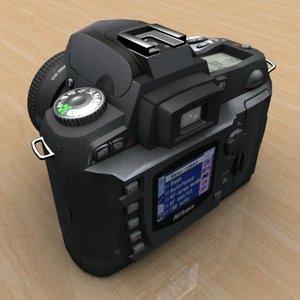 3d model of professional digital photo camera
