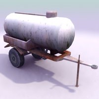 water fuel bowser 3d model
