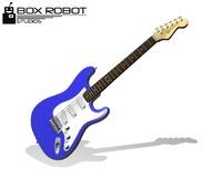 stratocaster guitar 3d blend