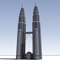 3D Petronas Tower