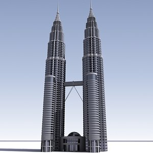 3d petronas skyscraper