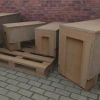 Wooden Crate Pallet  3D Model