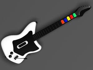realistic guitar hero rock 3d model
