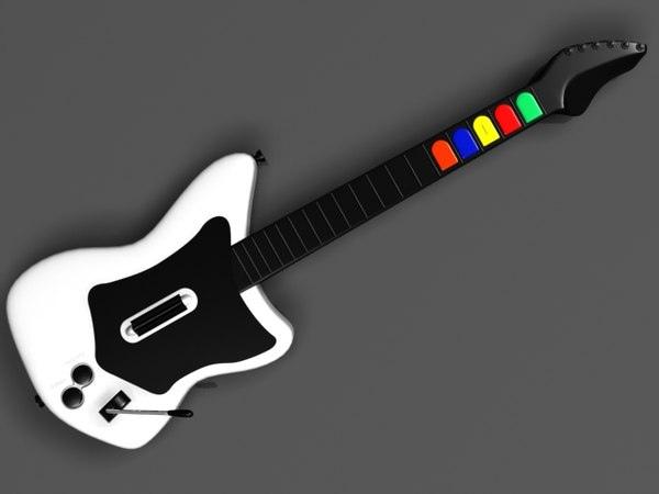 realistic guitar hero rock 3d model