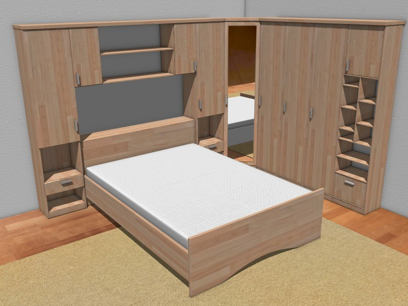 3ds max bed furniture