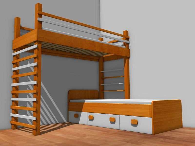 bed furniture 3d 3ds