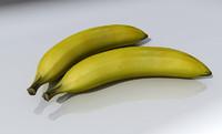 banana fruit 3d model