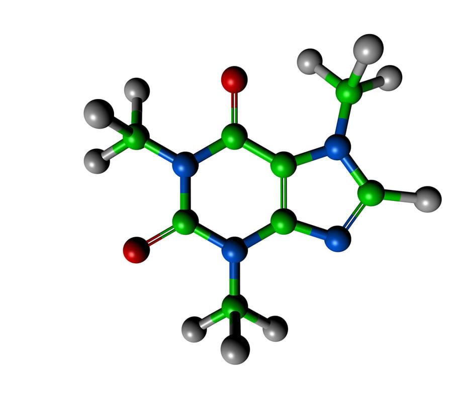 3d caffien atomic model