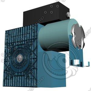 3d roller shutter motor