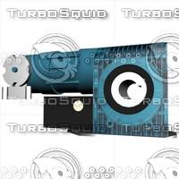 3d direct drive door motor