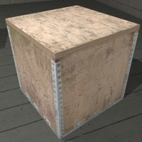 Cargo Crate 3D Model