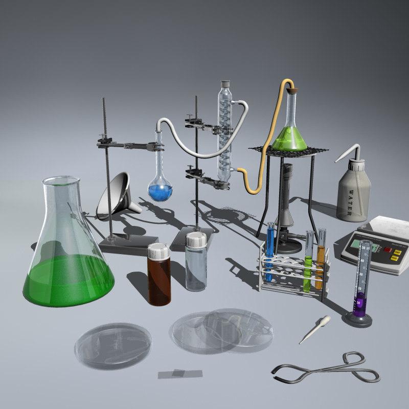 laboratory equipment 3ds