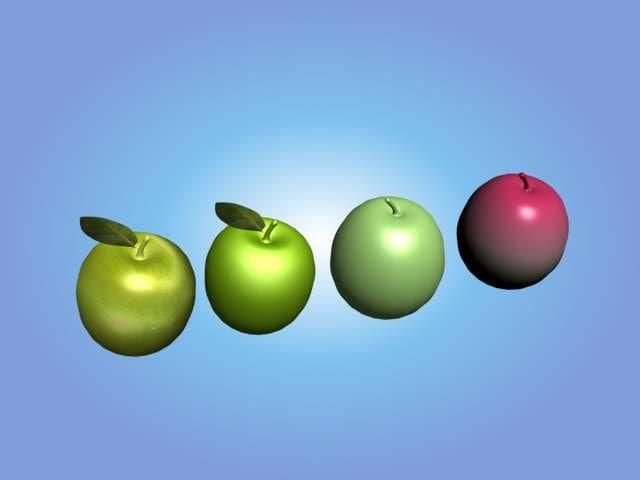 3d model of apples fruit
