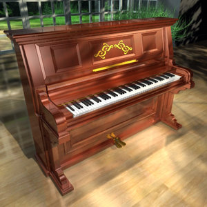 new wall style piano keyboard 3d 3ds