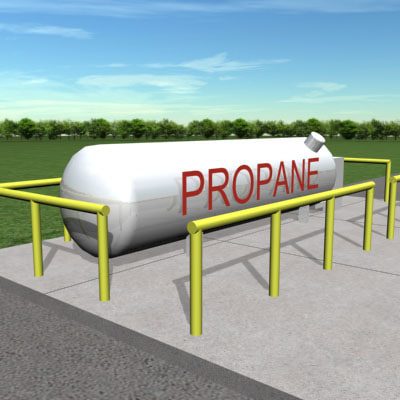 3d propane refilling station