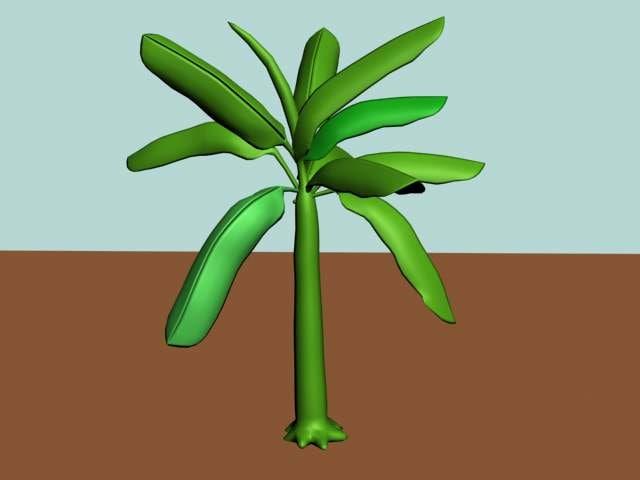 banana tree 3d max