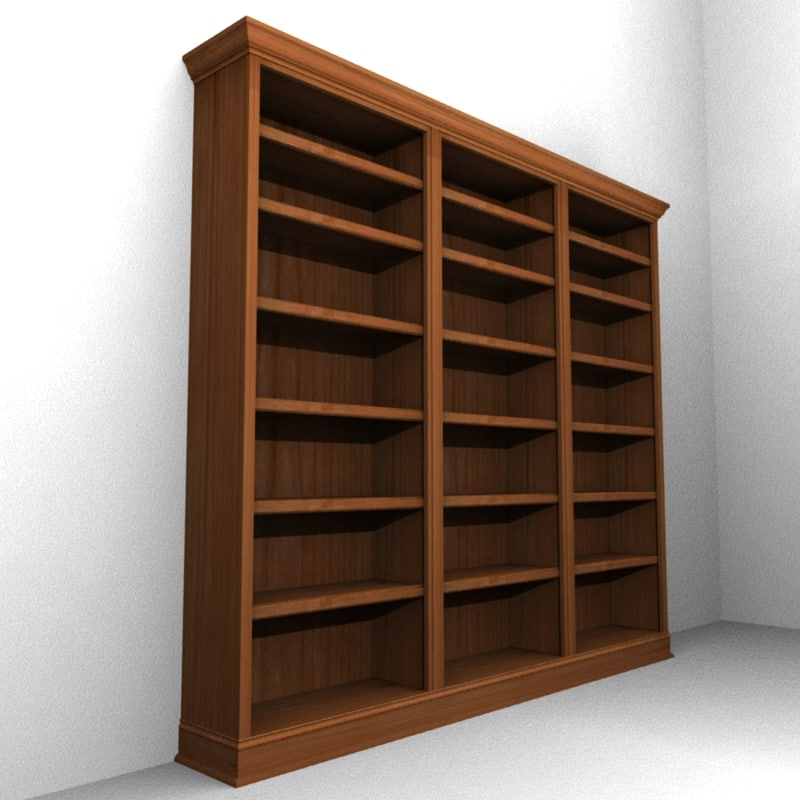 3d traditional bookcase case