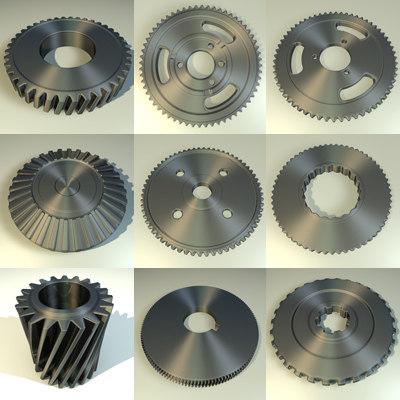gear wheels 3d model