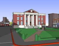 free hill valley skp 3d model