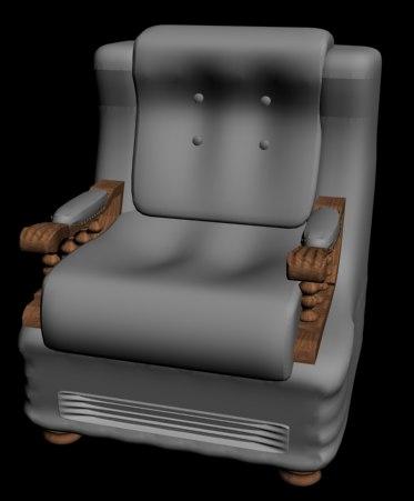 3d 3ds fauteuille