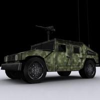 3d humvee car