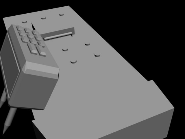 c4 detonator! 3d model