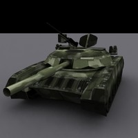 Low Polygon T-80 MBT.3DS