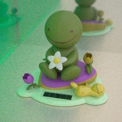 3d model japanese frog toy