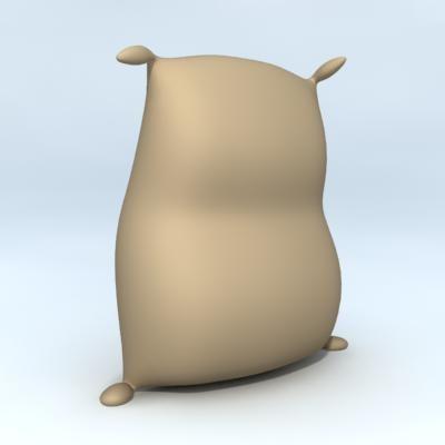 flour sack 3d model