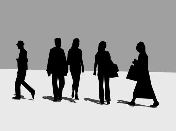 Foto Sagome Persone.Sagome Persone Che Camminano Indaffarate