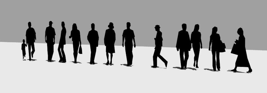 Sagome Persone Che Camminano.Sagome Persone Che Camminano Indaffarate