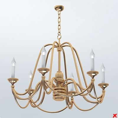 chandelier light lamp 3ds