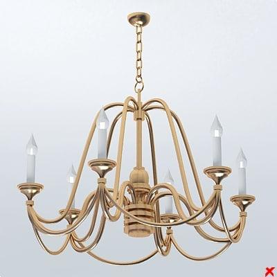 chandelier light lamp 3ds