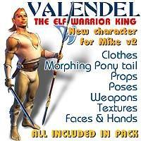 3d model valendel elf king