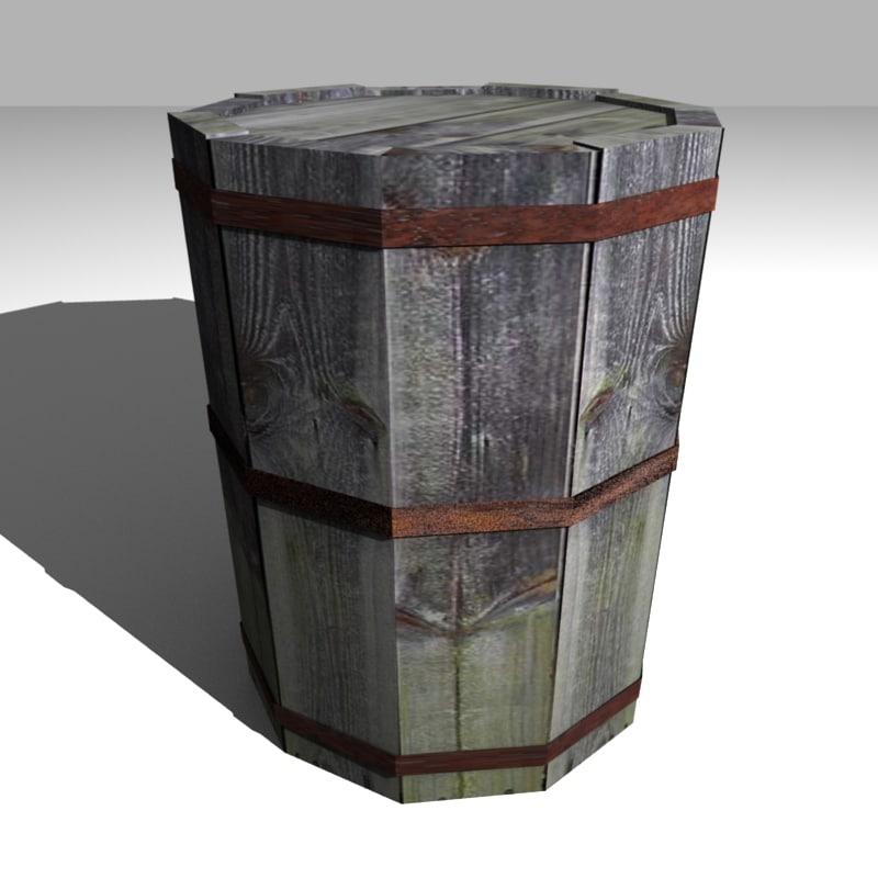 barrel 3d blend