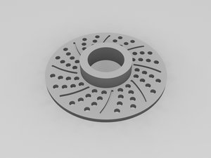 3d model brake rotor