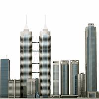 9 Skyscrapers set