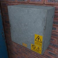 Electricty power box 3d model