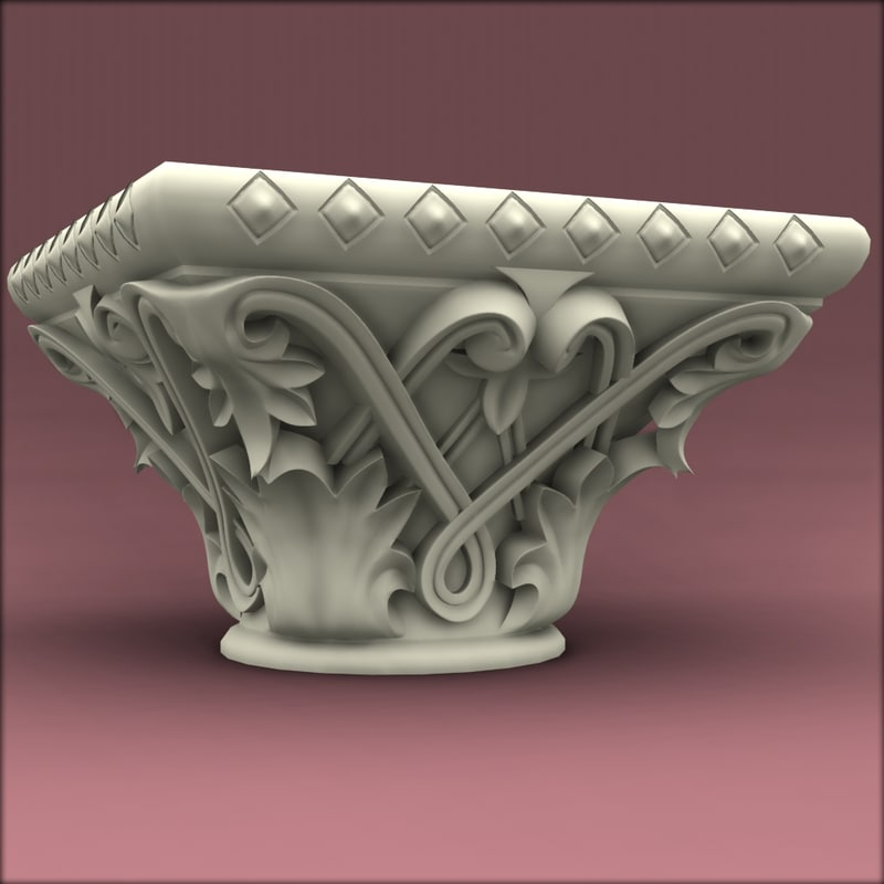 classic corinthian colum 3d model