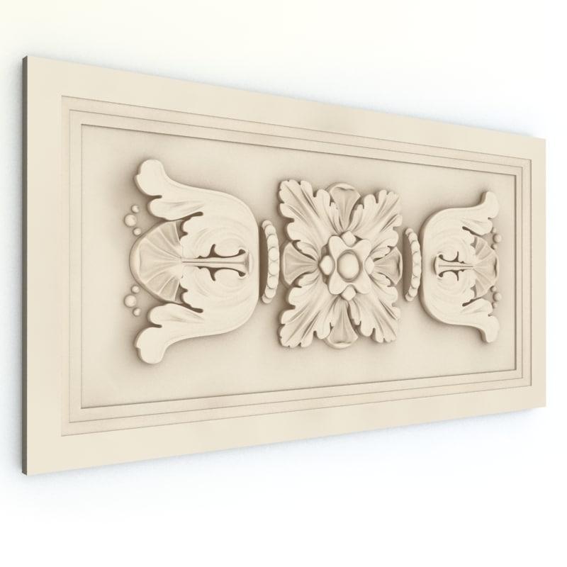 3d decor ornament model