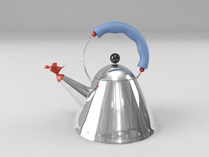 michael graves alessi tea kettle 3d model