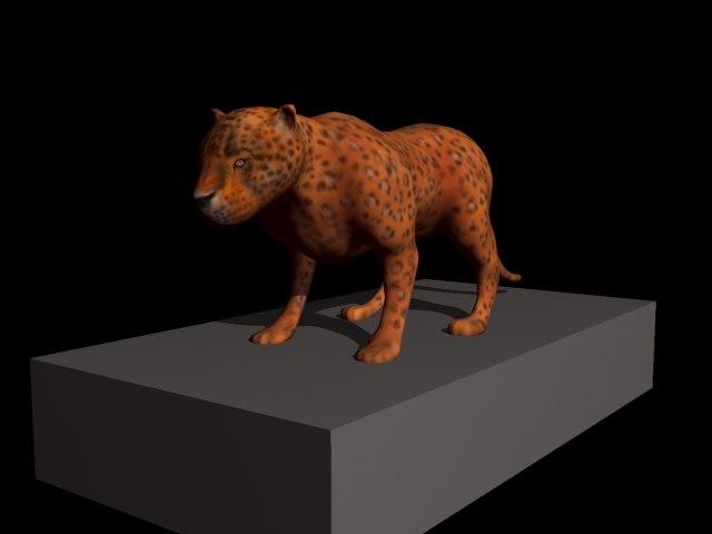 leopard cat 3d model
