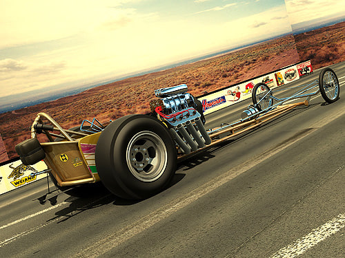3ds max 1966 dragster