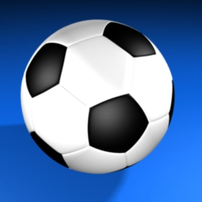 3d soccer balls football model